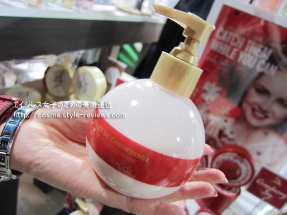 2012ボディショップのクリスマス限定ホリデーコレクション!展示会で一番人気のハンドローション クランベリージョイ
