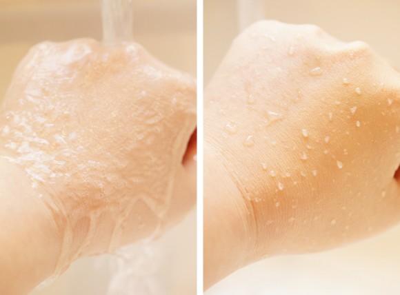 資生堂マキアージュのパーフェクトマルチベースBBの使用感/水流実験
