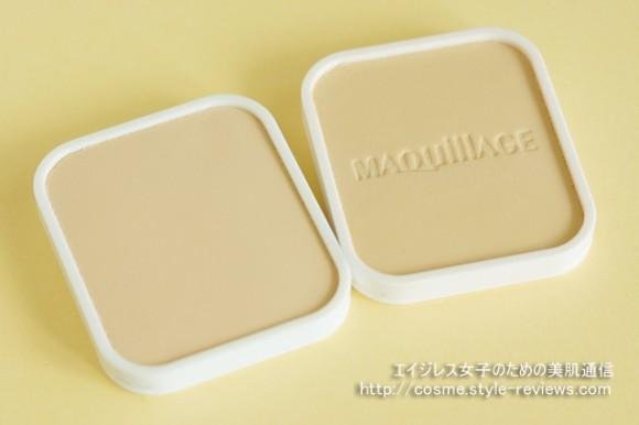 エリクシールシュペリエル/ホワイトニングパクトUVとマキアージュ/トゥルーパウダリーUVを比較