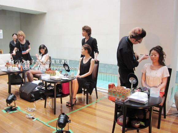 顔ツボ化粧品BB革命パーティー/プールサイドでプロによるメイクショー