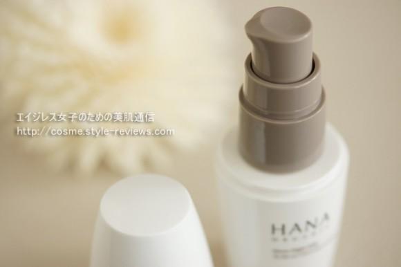 HANAオーガニックムーンナイトミルクを使ってみた感想・口コミ/容器形状はプッシュタイプ