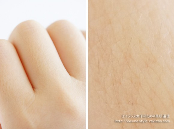 トリアのレーザー脱毛器プレシジョンなら照射しにくい利き手の指の脱毛が簡単に