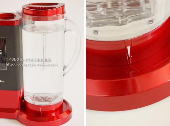 高濃度水素水生成器ルルド水素水サーバーの使い方/給水したポットをセットする