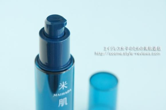 コーセー米肌 肌潤改善エッセンスの使用感/プッシュ式容器